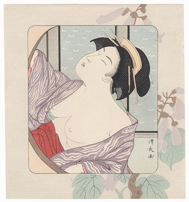 Pillow Print by Kiyonaga (1752 - 1815)