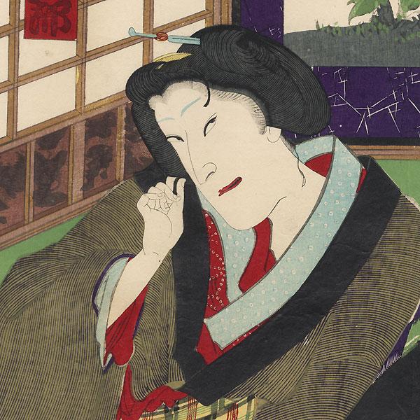 Eavesdropping by Kunichika (1835 - 1900)
