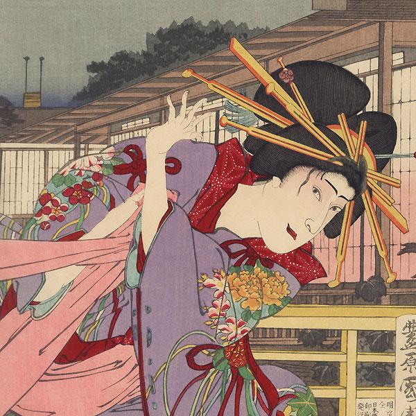 Scene from Kagotsurube Sato no Eizame, 1888 by Kunichika (1835 - 1900)