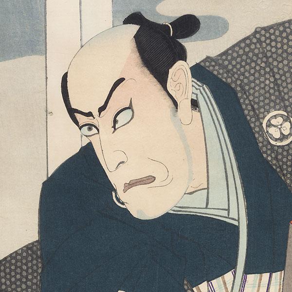 Ichikawa Danjuro IX as Sakai Saemon by Kunichika (1835 - 1900)