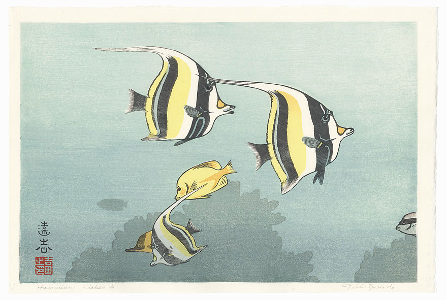 Hawaiian Fishes A, 1955 by Toshi Yoshida (1911 - 1995)