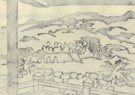 The Ancient Nakijin Castle by Miyata Saburo (1924 - 2013)