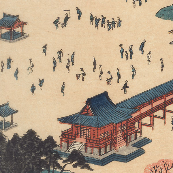 View of Toeizan Temple at Ueno by Hiroshige (1797 - 1858)