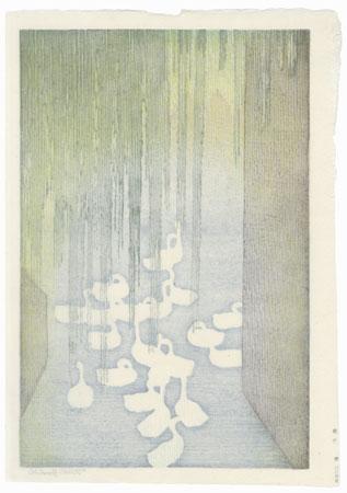 Bruges, 1955 by Toshi Yoshida (1911 - 1995)