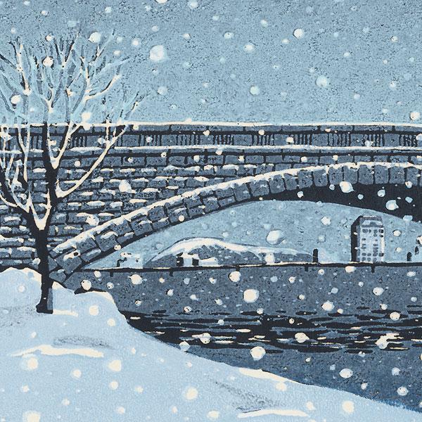Bandai Bridge on a Snowy Day, Niigata by Ichii Kondo