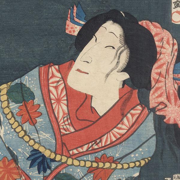 Beating a Beauty by Kunichika (1835 - 1900)