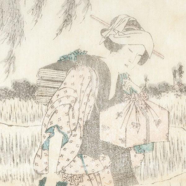 Farmer Taking a Break by Hokusai (1760 - 1849)