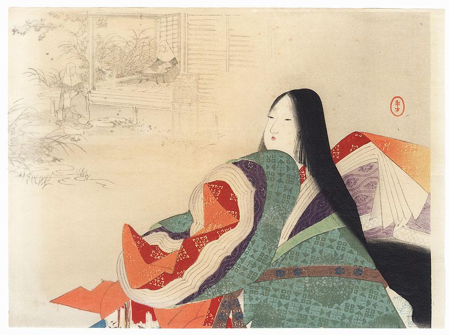 Jakko-in Temple Kuchi-e Print, 1901 by Toshikata (1866 - 1908)
