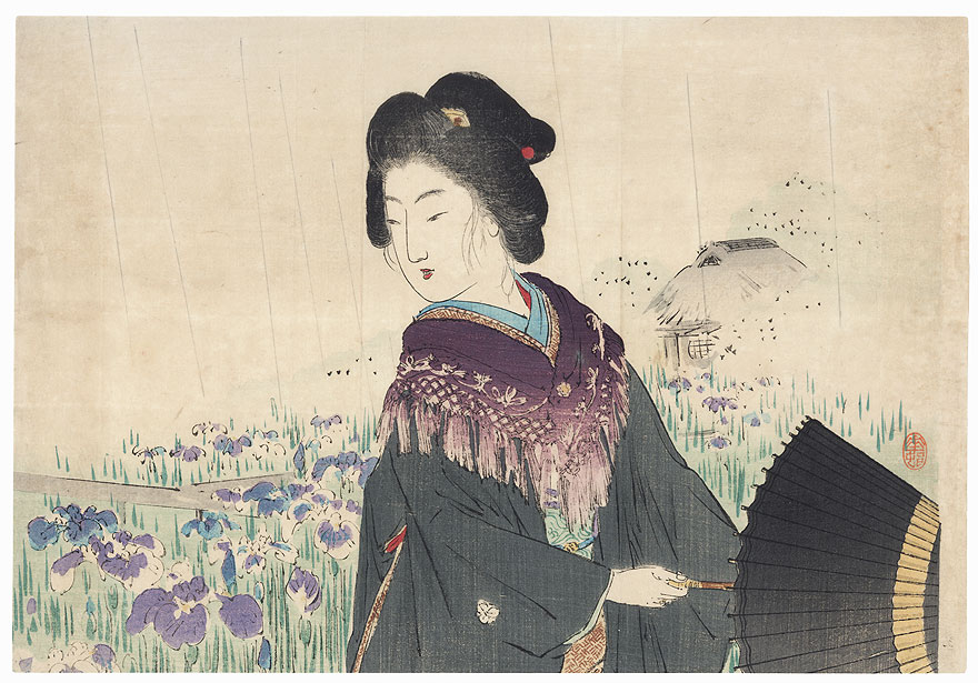 Iris Kuchi-e Print, 1907 by Suzuki Kason (1860 - 1919)