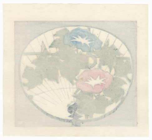 Fan with Morning Glories, 1974 by Fumio Fujita (born 1933)