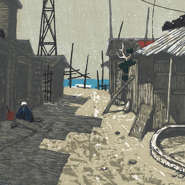 Fishing Village in the Afternoon, 1966 by Fumio Kitaoka (1918 - 2007)
