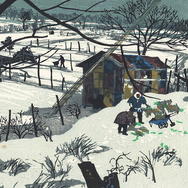 Rural Winter, 1970 by Fumio Kitaoka (1918 - 2007)