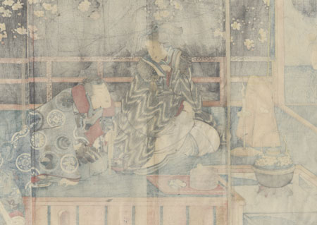A Spring Night, 1847 - 1852 by Toyokuni III/Kunisada (1786 - 1864)