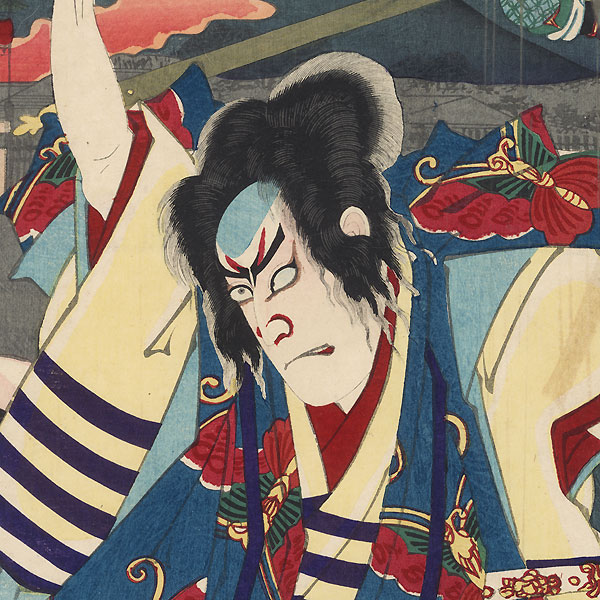 Night Attack of the Soga Brothers, 1888 by Kunichika (1835 - 1900)