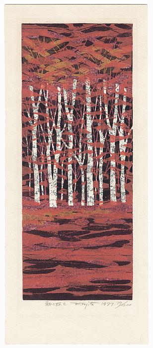 Autumn Woods C, 1977 by Fumio Fujita (born 1933)