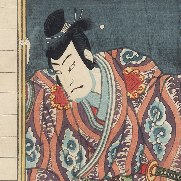 Nakamura Shikan as Fuwa Banzaemon, 1861 by Toyokuni III/Kunisada (1786 - 1864)