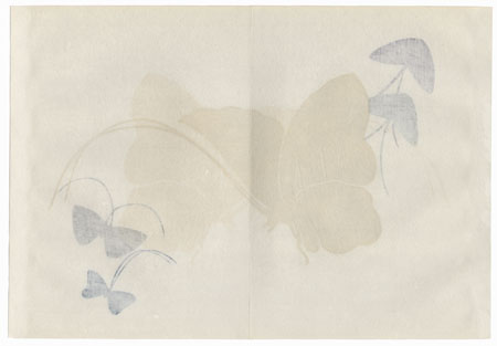 Original Sekka Butterfly Print by Kamisaka Sekka (1866 - 1942)
