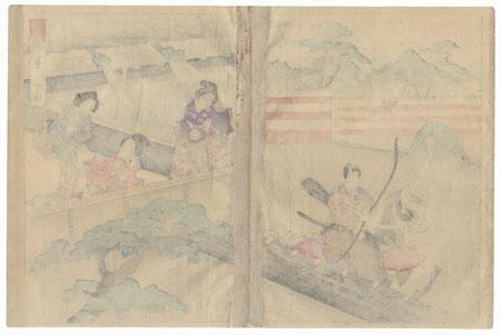 Wakana-no-jo, Chapter 34 by Toyokuni III/Kunisada (1786 - 1864)