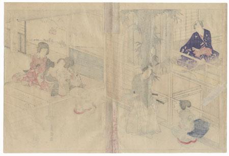Kobai, Chapter 43 by Toyokuni III/Kunisada (1786 - 1864)