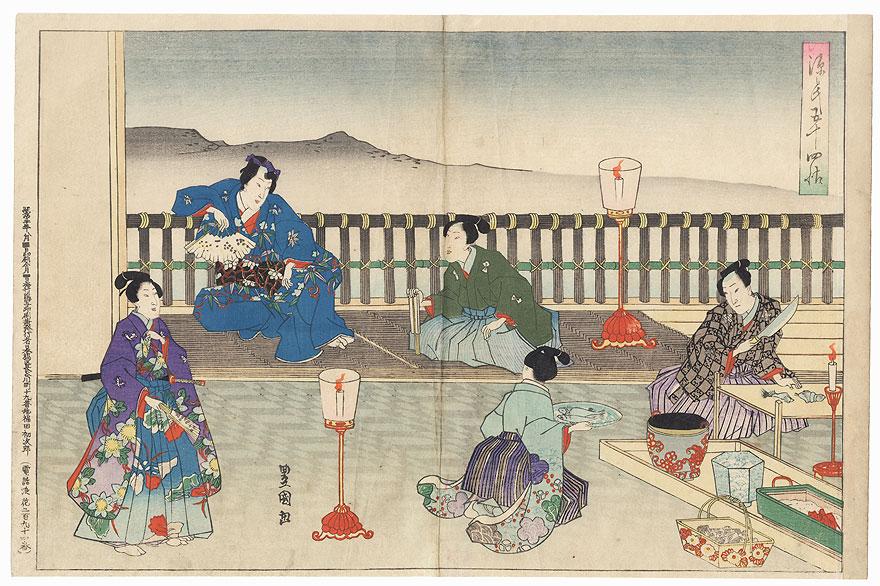 Kashiwagi, Chapter 36 by Toyokuni III/Kunisada (1786 - 1864)