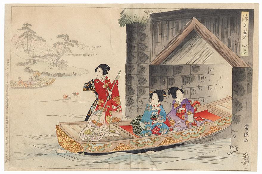 Fuji no uraba, Chapter 33 by Toyokuni III/Kunisada (1786 - 1864)