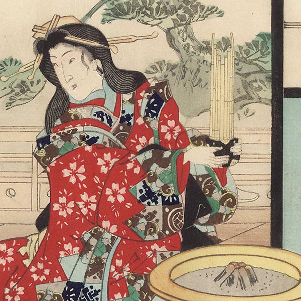 Wakamurasaki, Chapter 5 by Toyokuni III/Kunisada (1786 - 1864)