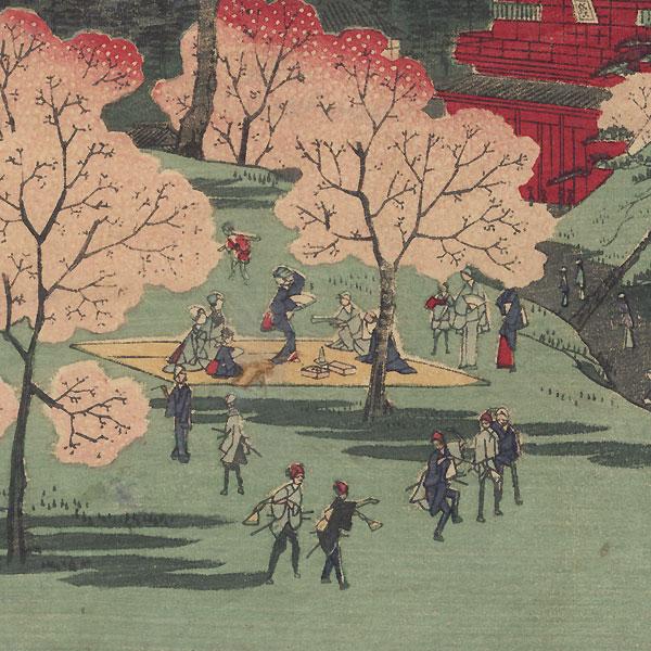 Toeizan Temple, 1861 by Hiroshige II (1826 - 1869)