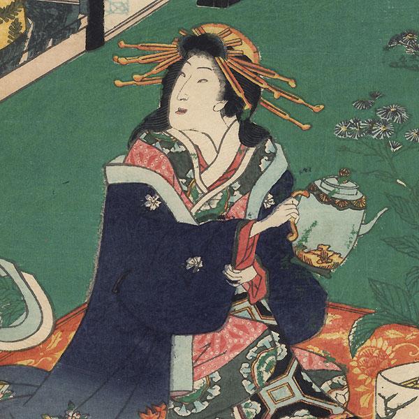 Imamurasaki, 1861 by Toyokuni III/Kunisada (1786 - 1864)