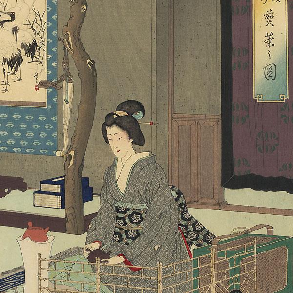 Tea Ceremony by Toshikata (1866 - 1908)