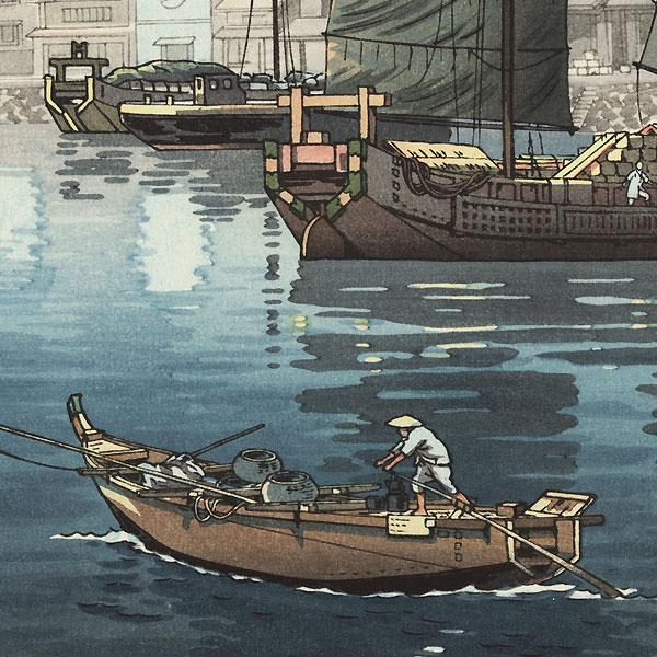 Akashi Bay, Inland Sea at Seto, 1938 by Tsuchiya Koitsu (1870 - 1949)