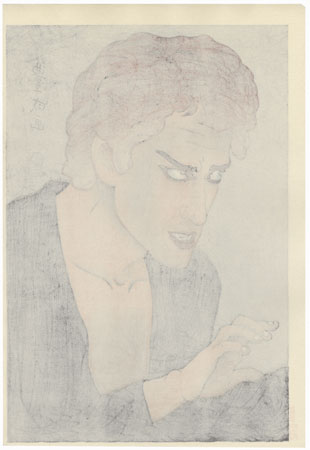 Morita Kan'ya XIII as Jean Valjean in Les Miserables, 1921 by Yamamura Toyonari (Koka) (1885 - 1942)