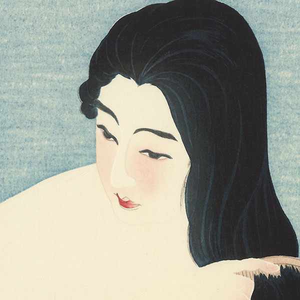 Nude Combing Hair by Torii Kotondo (1900 - 1976)