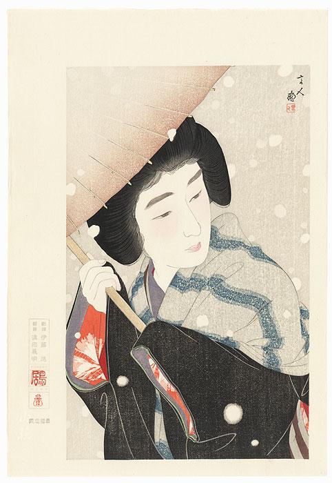 Peony Snowflakes by Torii Kotondo (1900 - 1976)