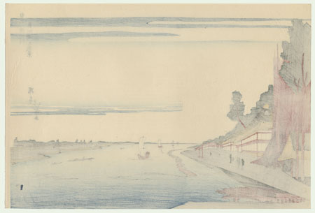 Scenery of Massaki on the Sumida River by Hokuju (active circa 1789 - 1818)