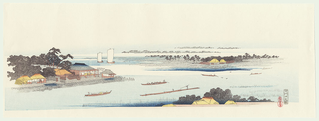 Mouth of the Naka River by Hiroshige (1797 - 1858)