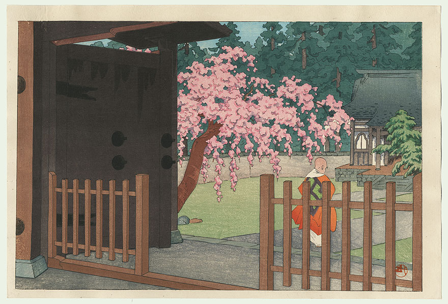 Monk Entering a Courtyard by Shin-hanga & Modern artist (unsigned)