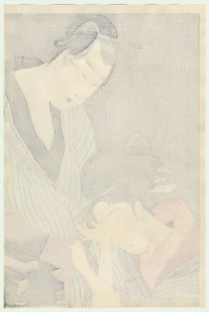 Shirokiya Okoma and Obana Saizaburo by Utamaro (1750 - 1806)
