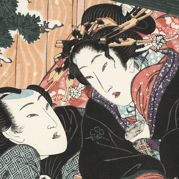 Pillow Print from The Secret Language of the Courtesan by Eisen (1790 - 1848)