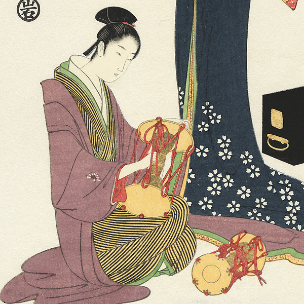 Selected Geisha of the Yoshiwara  by Eishi (1756 - 1829)