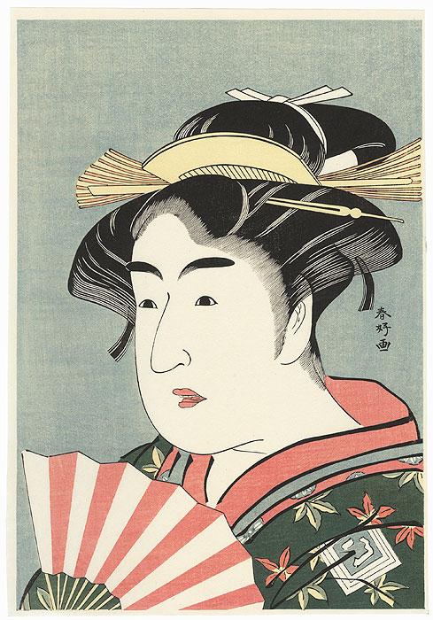 Ichikawa Monnosuke II as Osome by Shunko (1743 - 1812)