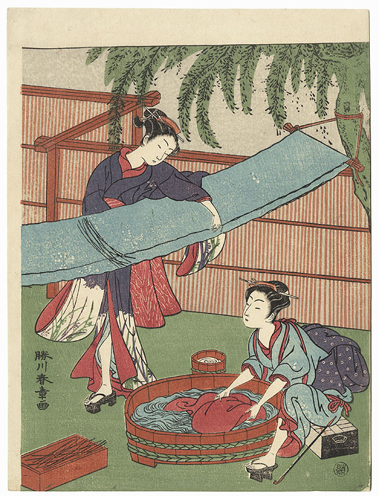 Laundry by Harushige (1747 - 1818)