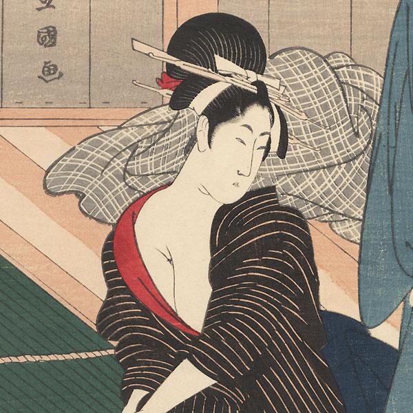 Beauties at a Bathhouse by Toyokuni I (1769 - 1825)