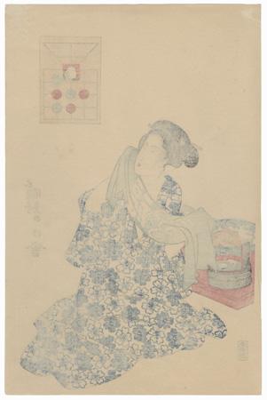 Beauty after a Bath by Toyokuni III/Kunisada (1786 - 1864)