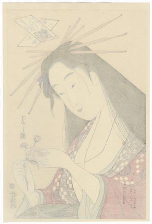 Ono no Komachi by Eishi (1756 - 1829)