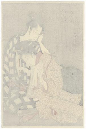 Young Lovers Parting by Choki (active circa 1785 - 1805)