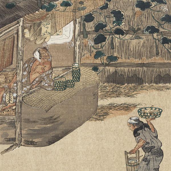 Artisans in Straw by Mitsuoki Tosa (1617 - 1691)