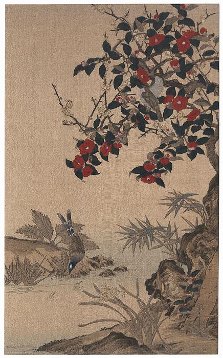 Crimson Camelias by Wang Je-shui