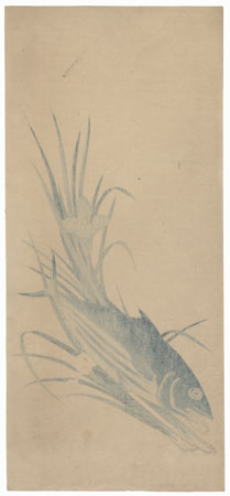 Fish and Irises by Toyohiro (1773 - 1828)