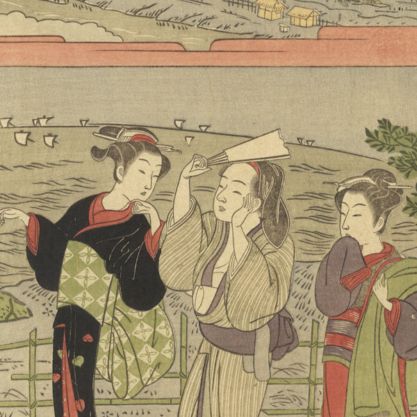 Afternoon Stroll by Harushige (1747 - 1818)