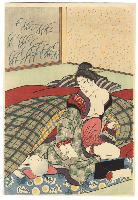 Beauty and Sleeping Child by Edo era artist (unsigned)